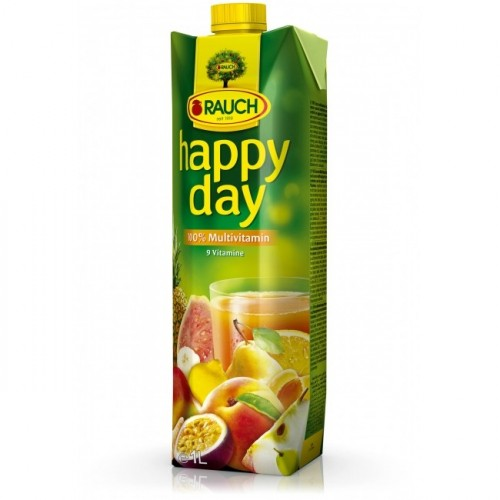 Džús HAPPY DAY multivitamín 100% 1 l