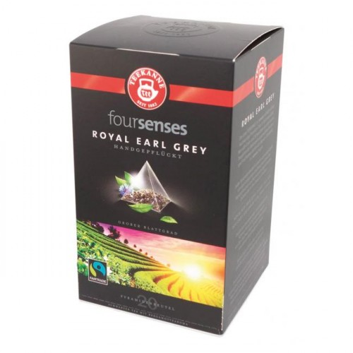 Čaj TEEKANNE FOURSENSES Royal Earl Grey Fairtrade 40g