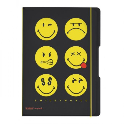 Zošit my.book Flex Smiley World Black A5 40listov štvorčekový PP