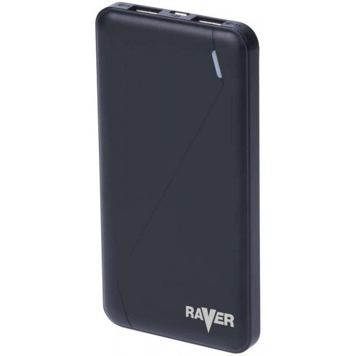 Power bank RAVER 10000mAh čierny