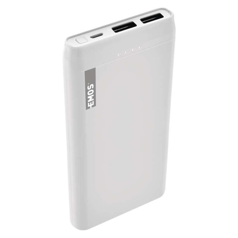 Power bank EMOS Alpha 10S, 10000 mAh, biely