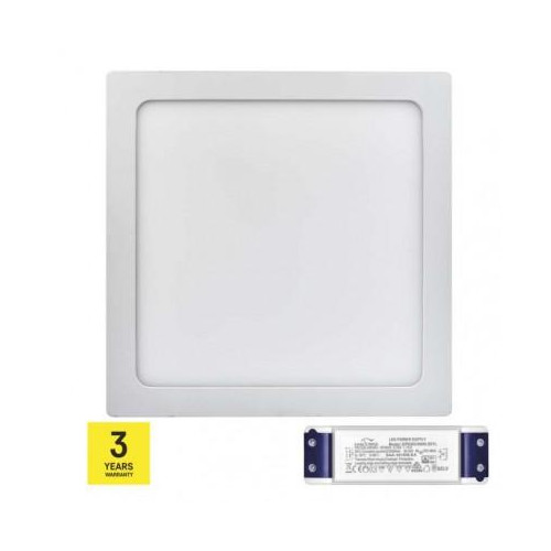 LED panel TRIAK 300×300, štvorcový prisadený bie, 24W t. b.