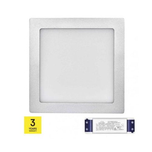 LED panel TRIAK 224×224, štvorcový prisadený str., 18W n. b.